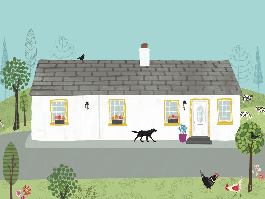 Cottage Illustration by Rachael Grainger