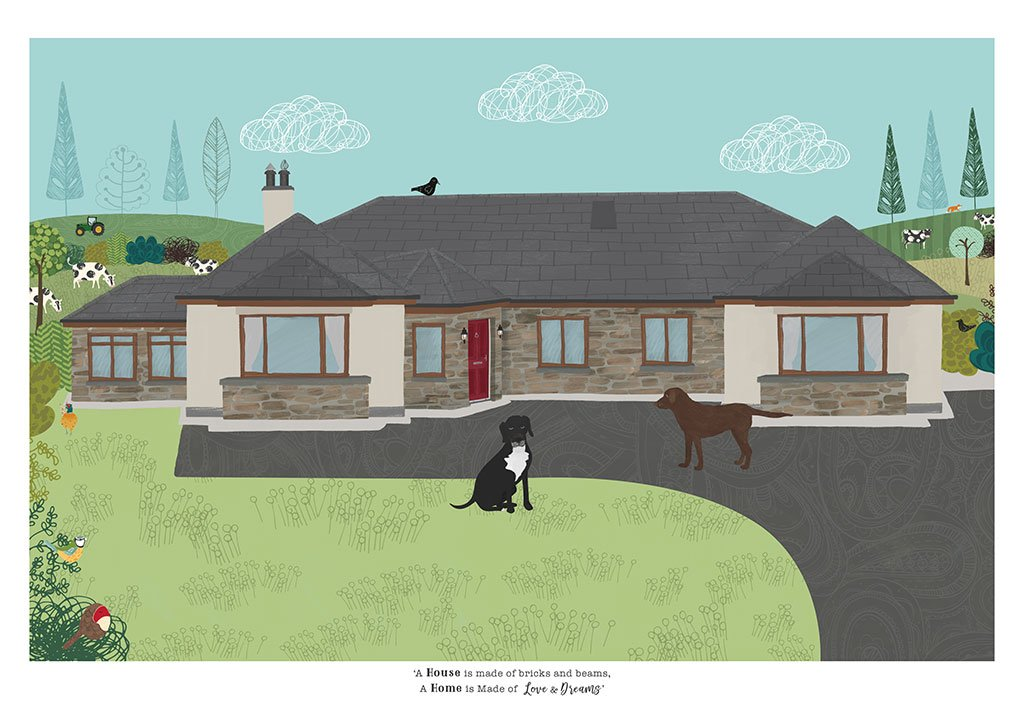 House Illustration by Rachael Grainger