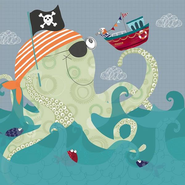 Pirate Octopus for Children ©Rachael Grainger