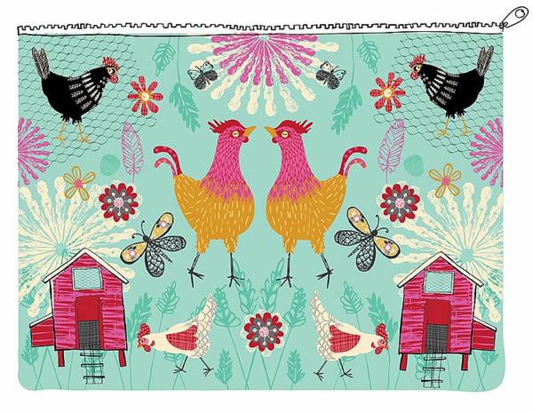 Country Hens illustration ©Rachael Grainger