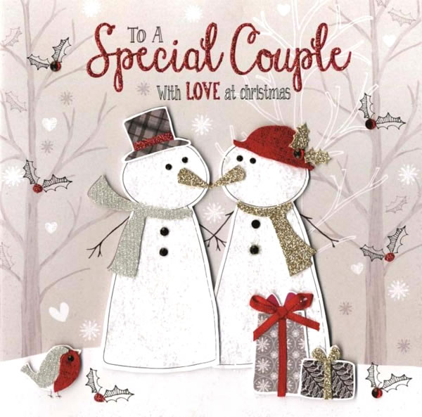Snowman Couple Greeting Card Published by ©Second Nature