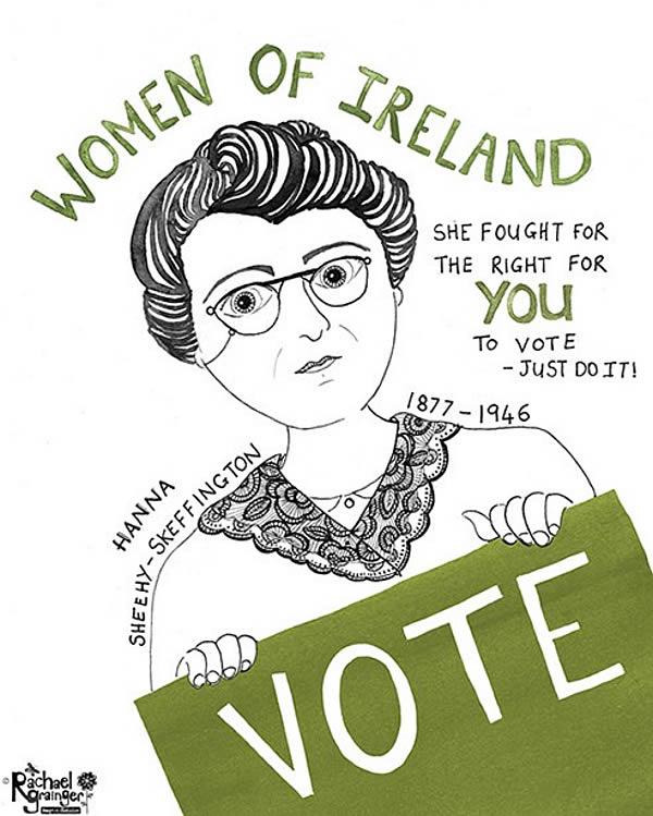 Hanna Sheehy-Skeffington Irish Suffragette ©Rachael Grainger