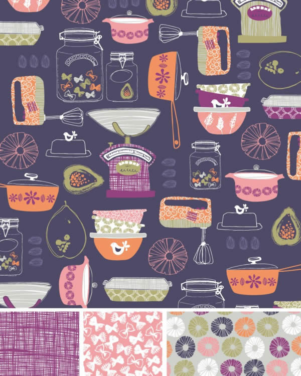 Vintage Cookware Pattern ©Rachael Grainger