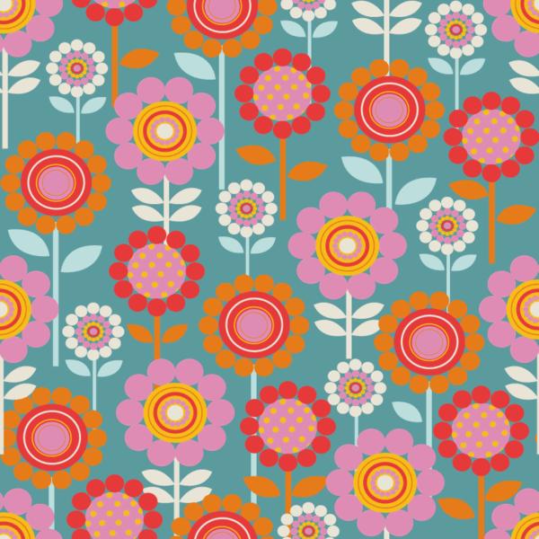 Retro Flower Pattern ©Rachael Grainger