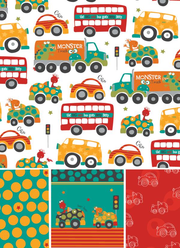 Monster Trucks Pattern ©Rachael Grainger
